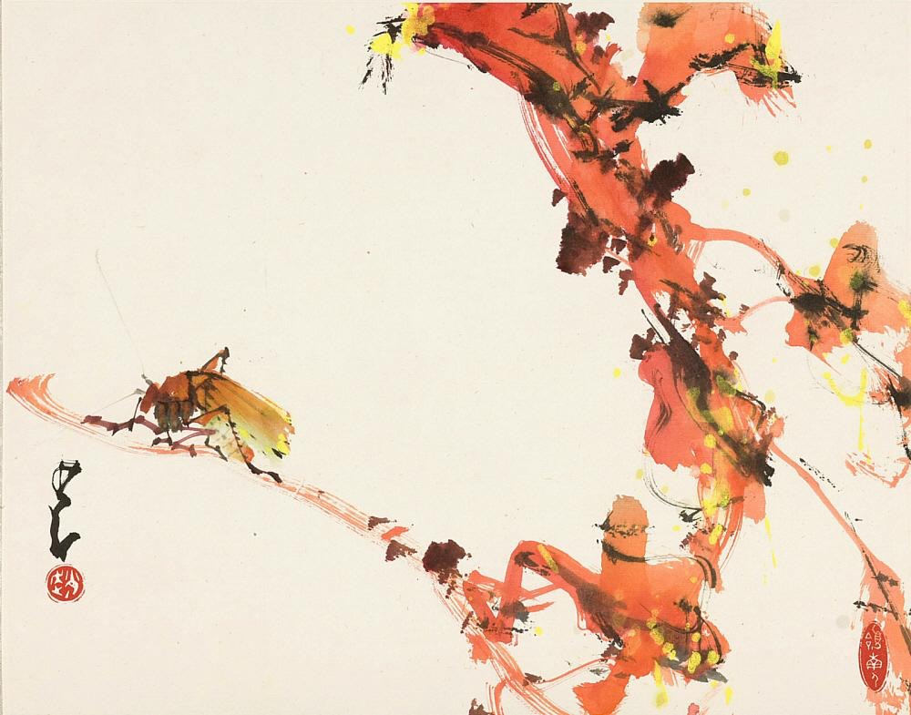 Sound of Autumn ( 現代 趙少昂繪 秋風聲咽 紙本設色) Date: approx. 1905-1992 Materials: Ink and colors on paper