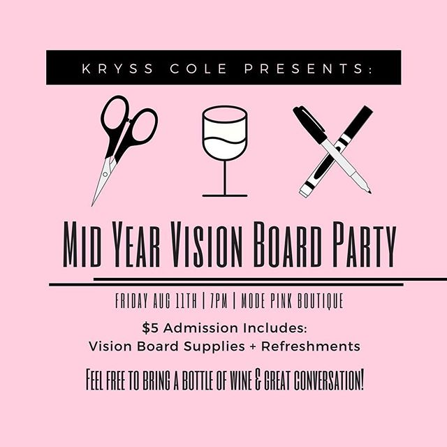 Has your vision changed, been forgotten, or does it need work? Come join me for a Vision Board Party! ✨ The first 2 RSVPs are FREE & $5 Admission gets you all your supplies + refreshments! 🔗in my bio!