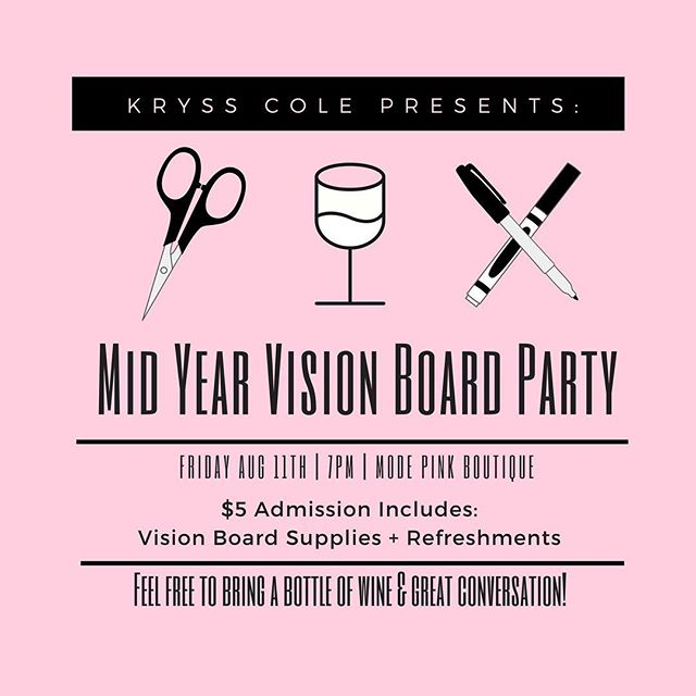 I'm hosting a mid-year vision board party a week from TODAY ✨Tickets are only $5 & that includes all your supplies and refreshments! The ticket 🔗 is in my bio!