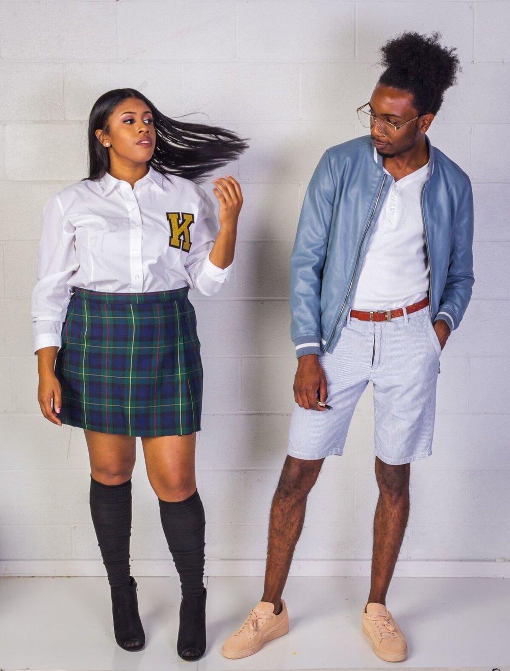 black boy preppy black girl preppy thrift outfit america's thrift store
