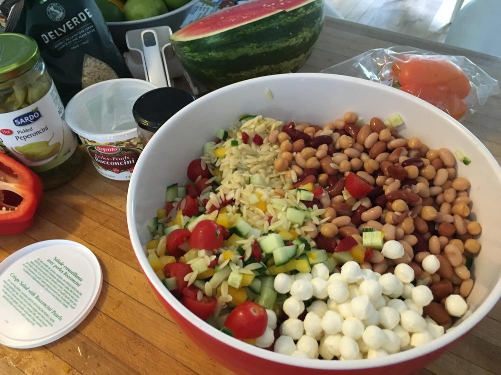 Surprise pasta salad