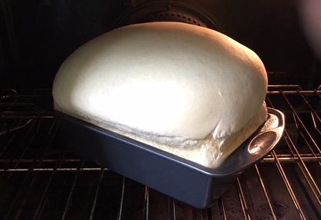Dhali's Bread in the oven