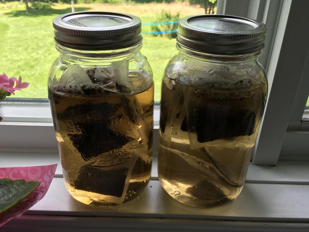 Tea in Mason Jars