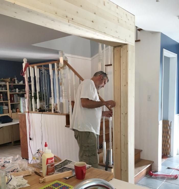 Capping the beams, great job Dan!
