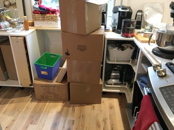 Still unpacking, ugh.