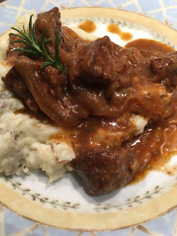 Autumn Beef Stew with Caramelized Onion