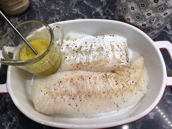 Cod with orange and fennel