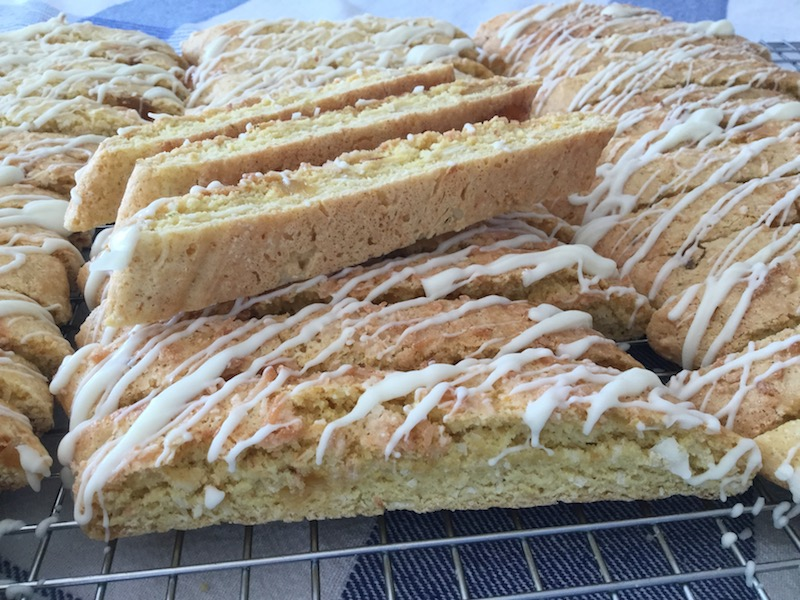 Candied Pineapple, Coconut and Lime Biscotti