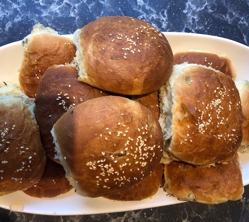 Burger Buns with Fresh Herbs