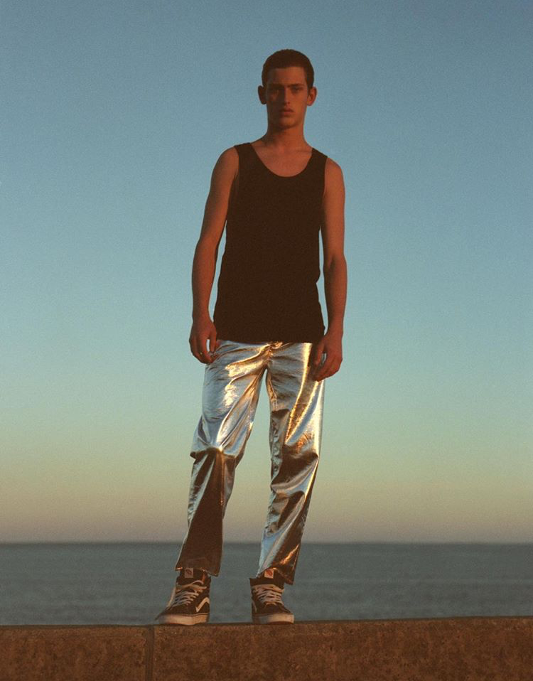 JAMES WEARS FW17 SILVER SURFER JEANS