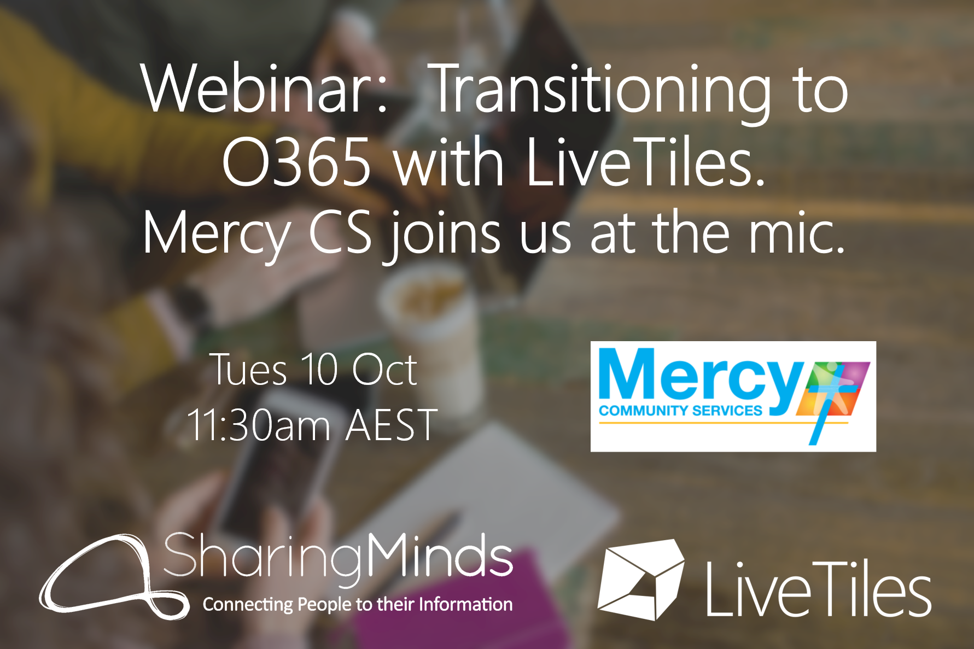 SHARING MINDS AND MERCY COMMUNITY SERVICES AND LIVETILES WEBINAR
