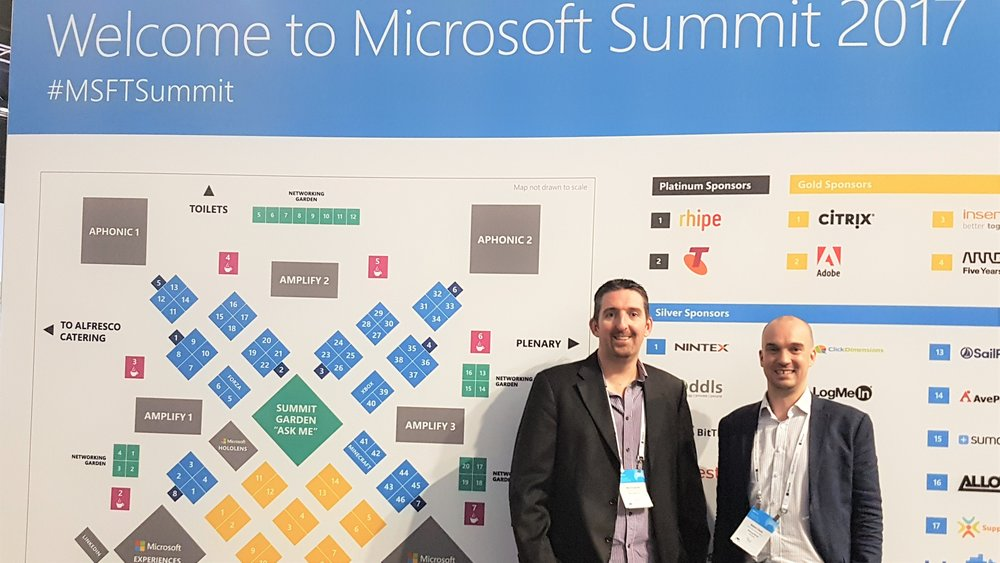 Ben Creamer and Adam Clark at #MSFTSummit - Sharing Minds