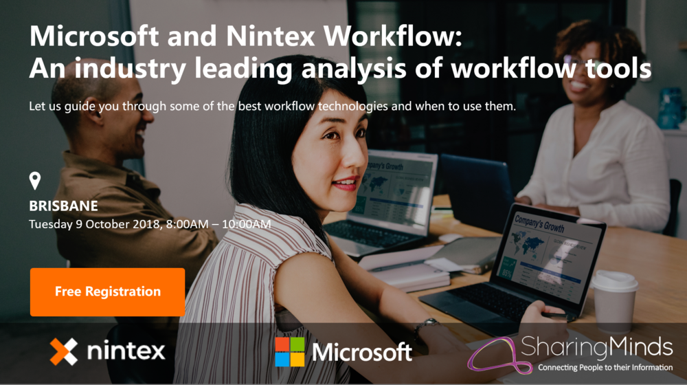Nintex Sharing Minds Microsoft Breakfast - Brisbane