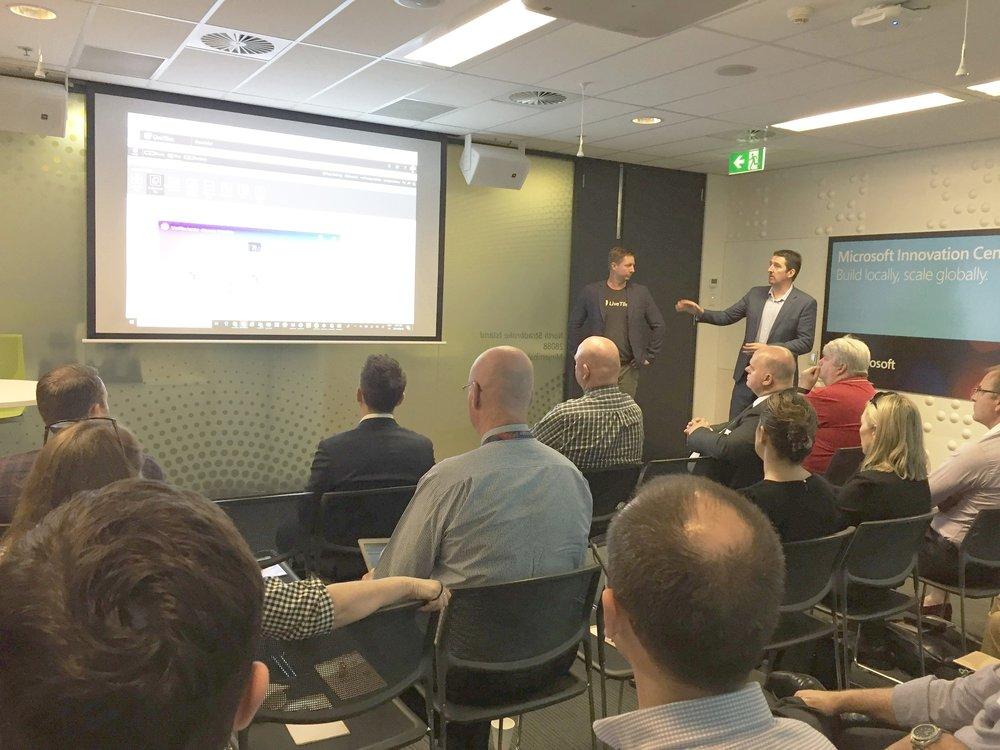 Damien Neale and Ben Creamer presenting