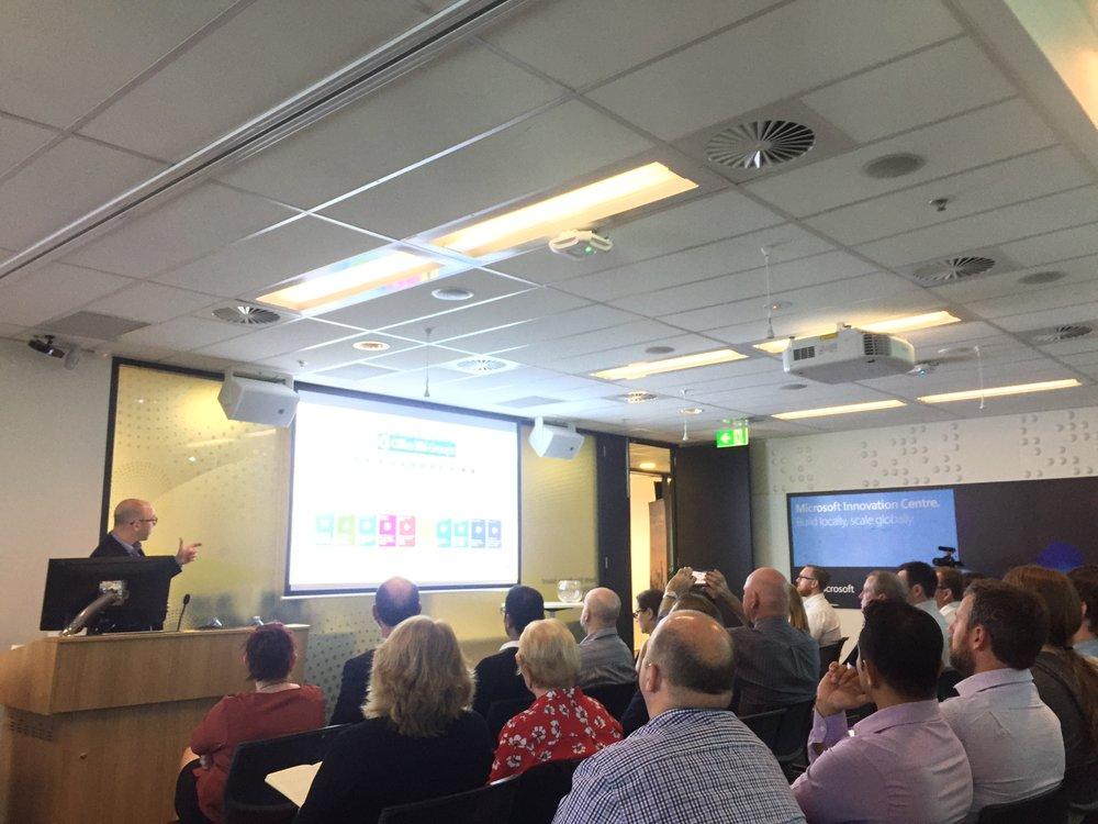 Paul Olenick presenting