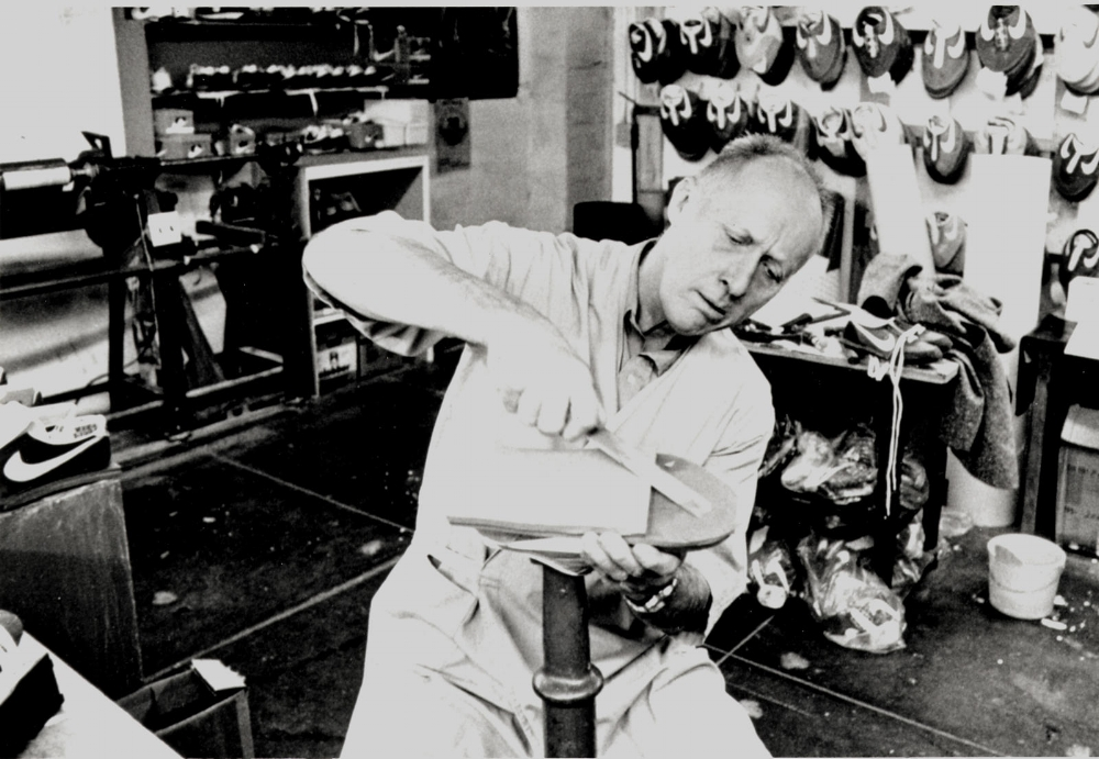 Bill Bowerman at a Eugene lab circa 1980.