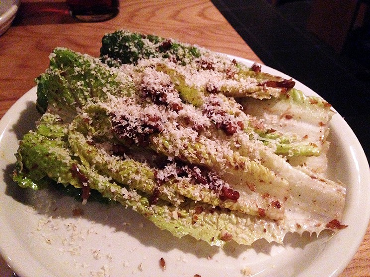 Romaine and walnut bagna cauda