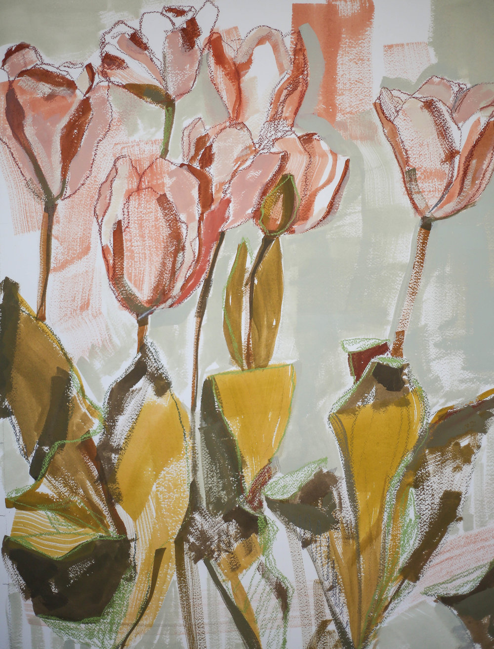 Tulips for Kalin 18 x 24 by Katherine Corden Art