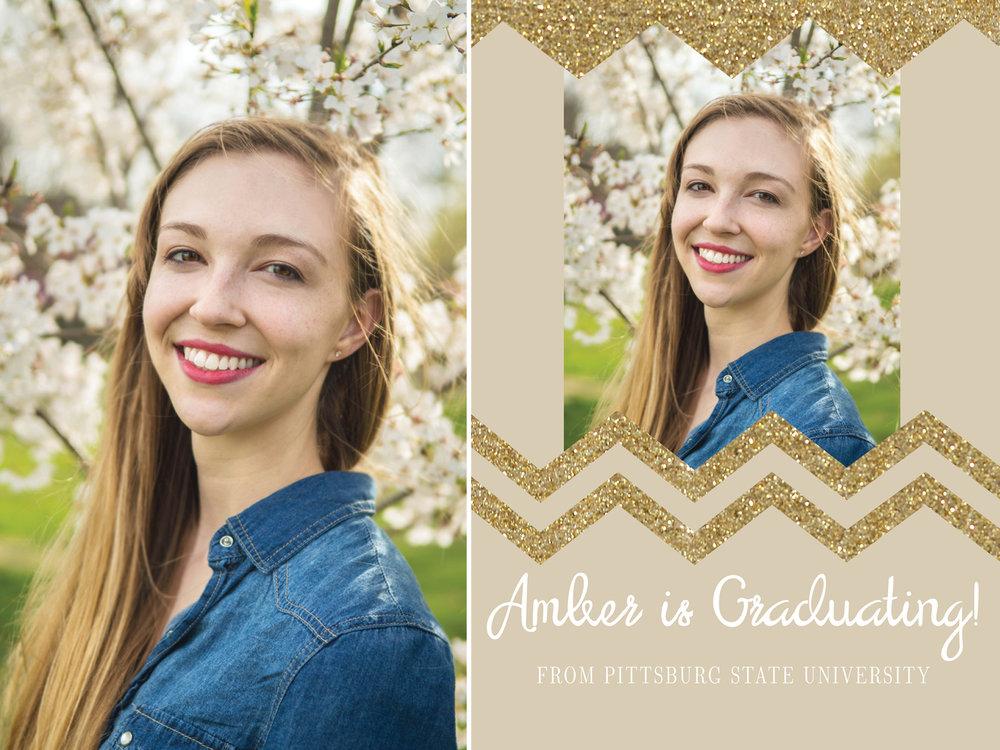 Amber-Senior Session and Graduation Invitation