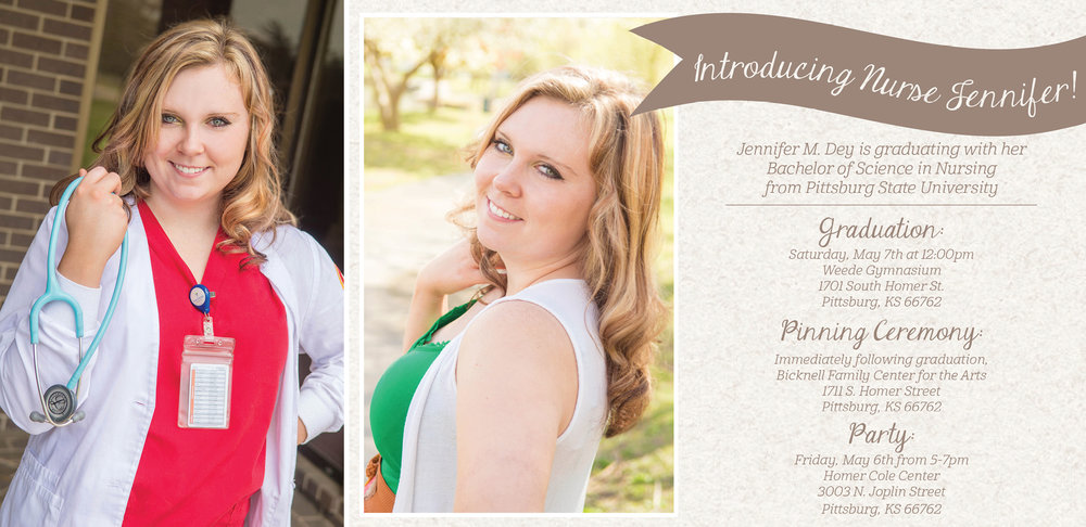 Jenn-Senior Session and Graduation Invitation