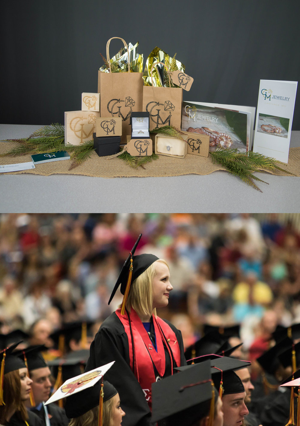 Completing Senior Project=Graduation!!  My senior project was a marketing campaign for a jewelry business in Carthage, MO  Bottom picture curtosy of Edgar Diaz