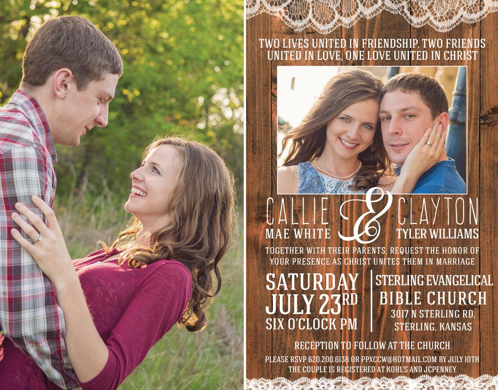 Callie + Clayton-Engagement and Wedding Invitation