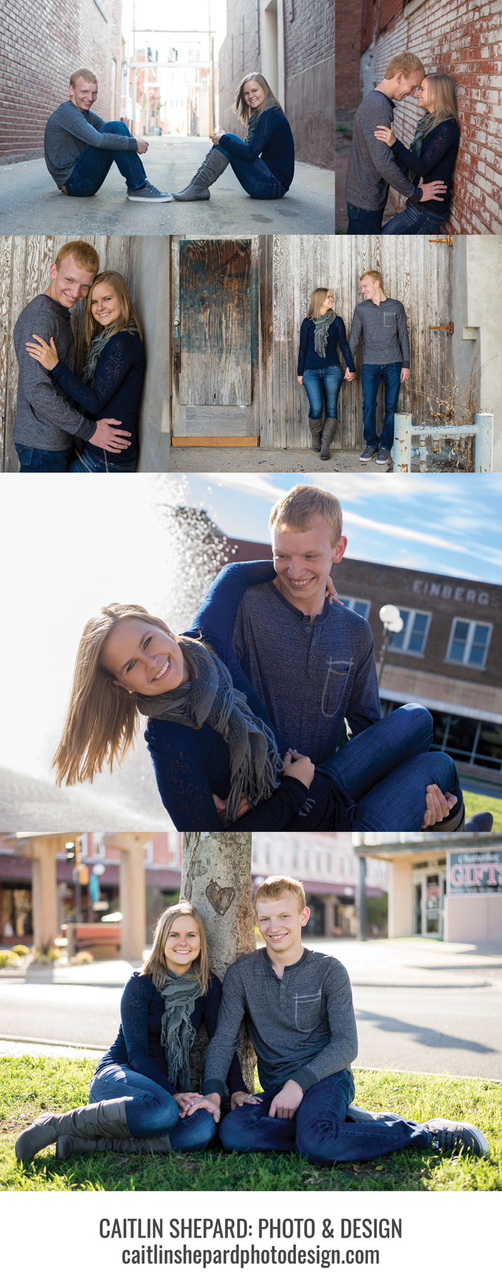 I love the bottom image here because before the session, she told me she wanted her wedding invitation to include a carved heart in the design, and we stumbled on one in the middle of town!
