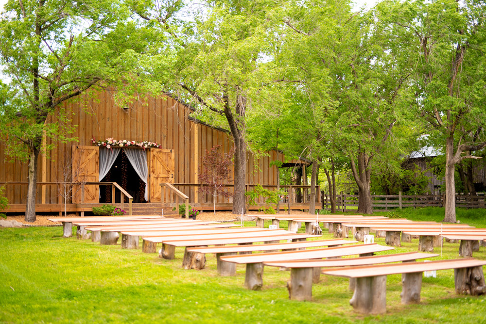 The Outdoor Ceremony Space at Cedar Tree Barn