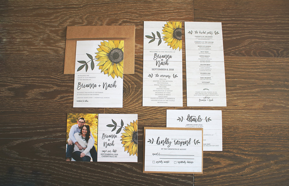 Invitation Suite by Mandy Reno Creative