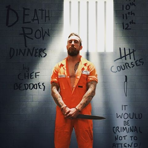 """Join us in the """"big house"""" for a dinner to die for. 3 nights next week, 6 courses of our chefs death row menu with wickedly evil beverages matched, this is a wine dinner with a difference. #afrtoprestaurants #deathrowdinner #youhavebeensummoned"""