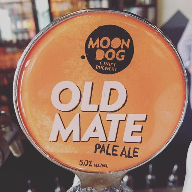 Today it's all about craft beer and just like its name this little beauty feels like it's been around for ever, a cracking pale ale to wash away the winter blues. #moondog #oldmate #craftbeer #grandrichmond