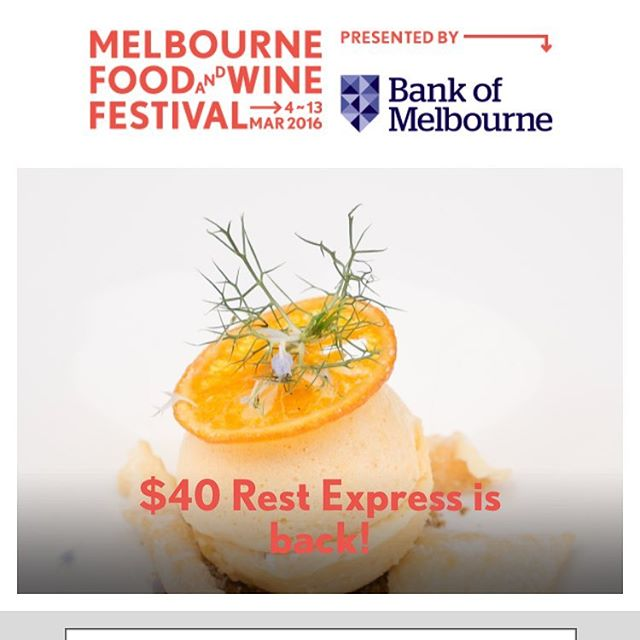Check out our wonderful semi freddo on the front page of the @melbfoodandwine festival web site. Torrone semi freddo con pistacchio pralina, the candied orange is to die for #dessert #dolci #mfwf #expresslunch #grandrichmond