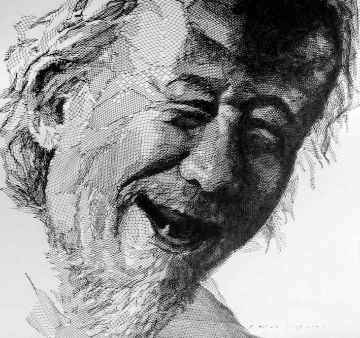 Artist: Iwan Yusuf, Indonesia    Title: Potrait Medium: troll net on canvas   Size: 200 cm x 200 cm Year:2015