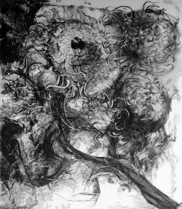 Artist: Iwan Yusuf, Indonesia    Title: Lukisan Palsu / Fake Painting Medium: waring net on canvas   Size: 200 cm x 170 cm Year:2015     SOLD