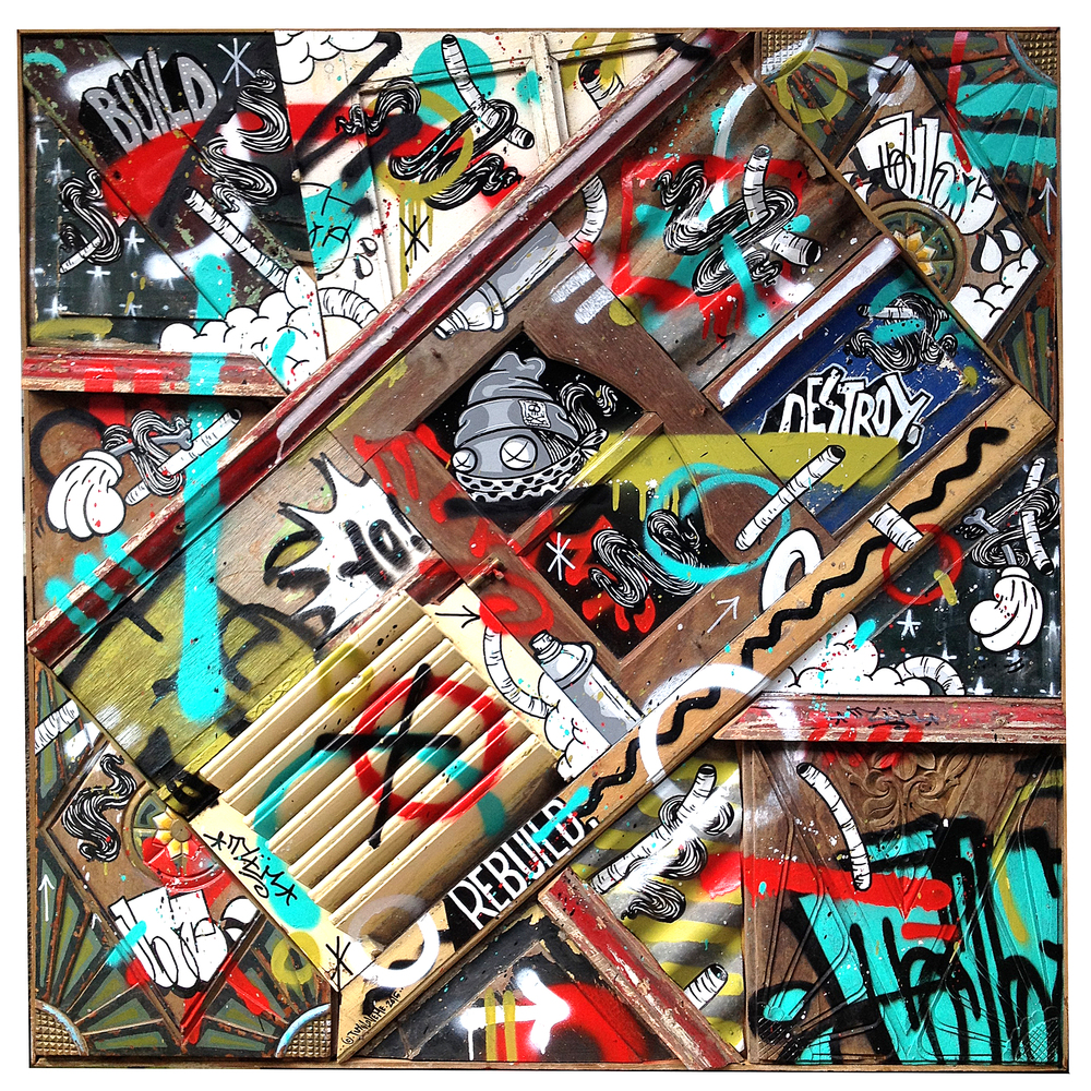 %22Build-destroy-rebuild%22 : 124cmx124cm : mixmedia on wood : 2015.jpg