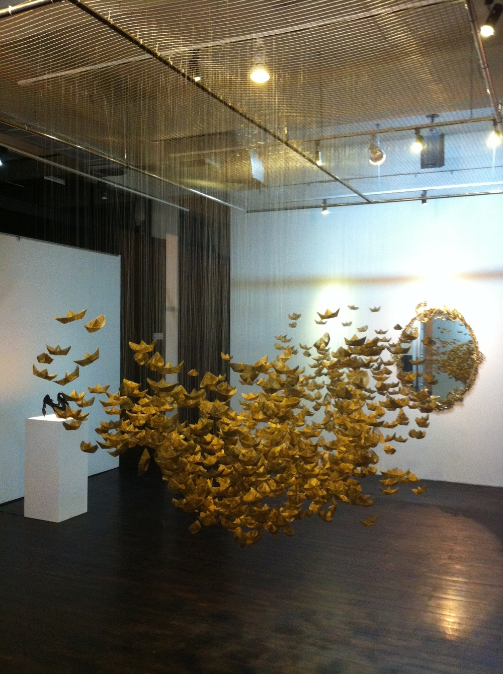 Artist: Octora, Indonesia    Title: Soul Oddysey Medium: metal sheet   Dimension: site specific installation Year: 2012    SOLD