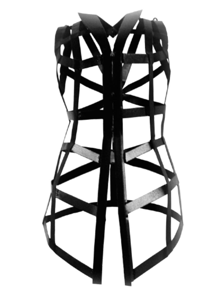 Artist: Octora, Indonesia    Title: Algolagnia 1 Medium: powder coated metal  Dimension : 80 cm x 40 cm x 35 cm Year:2012    SOLD