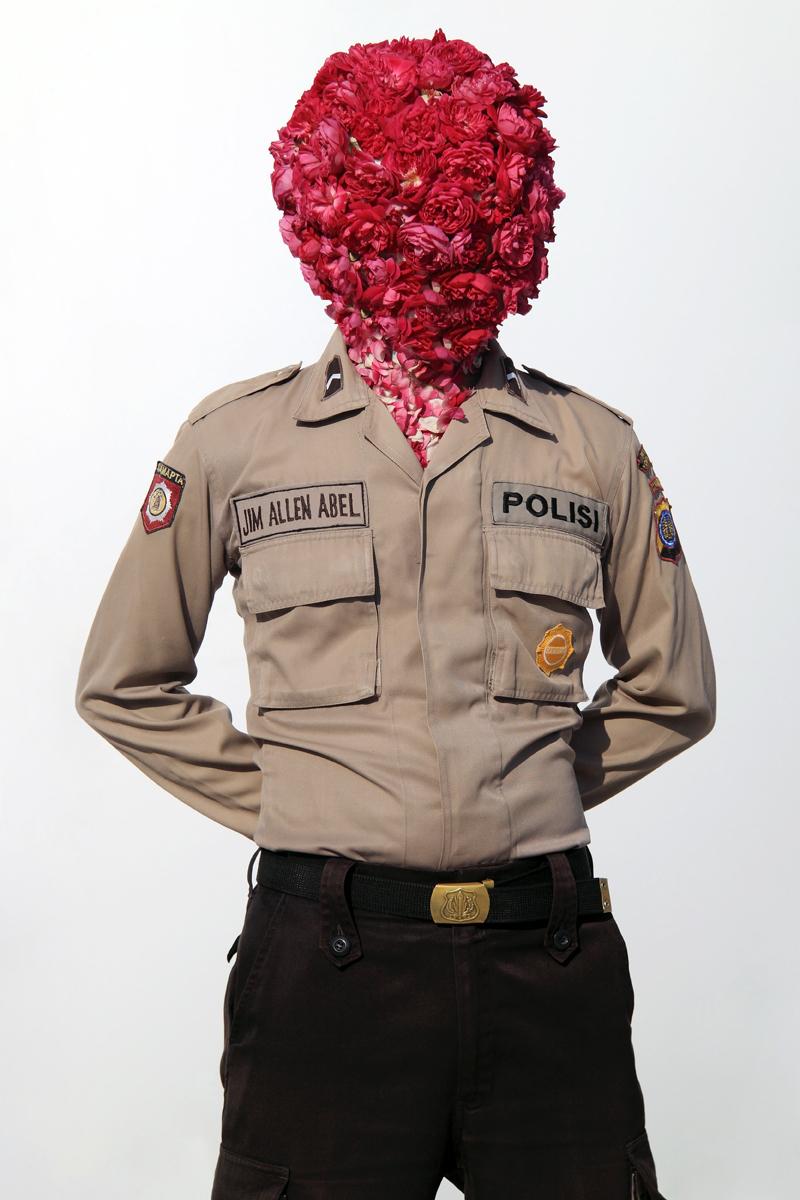 Artist: Jim Allen Abel, Indonesia    Title: Self Portrait - Polisi Medium: c-print paper on d-bond & plexiglass   Dimension: 100 cm x 150 cm Edition: 3 + 2 AP    Year:2011    SOLD