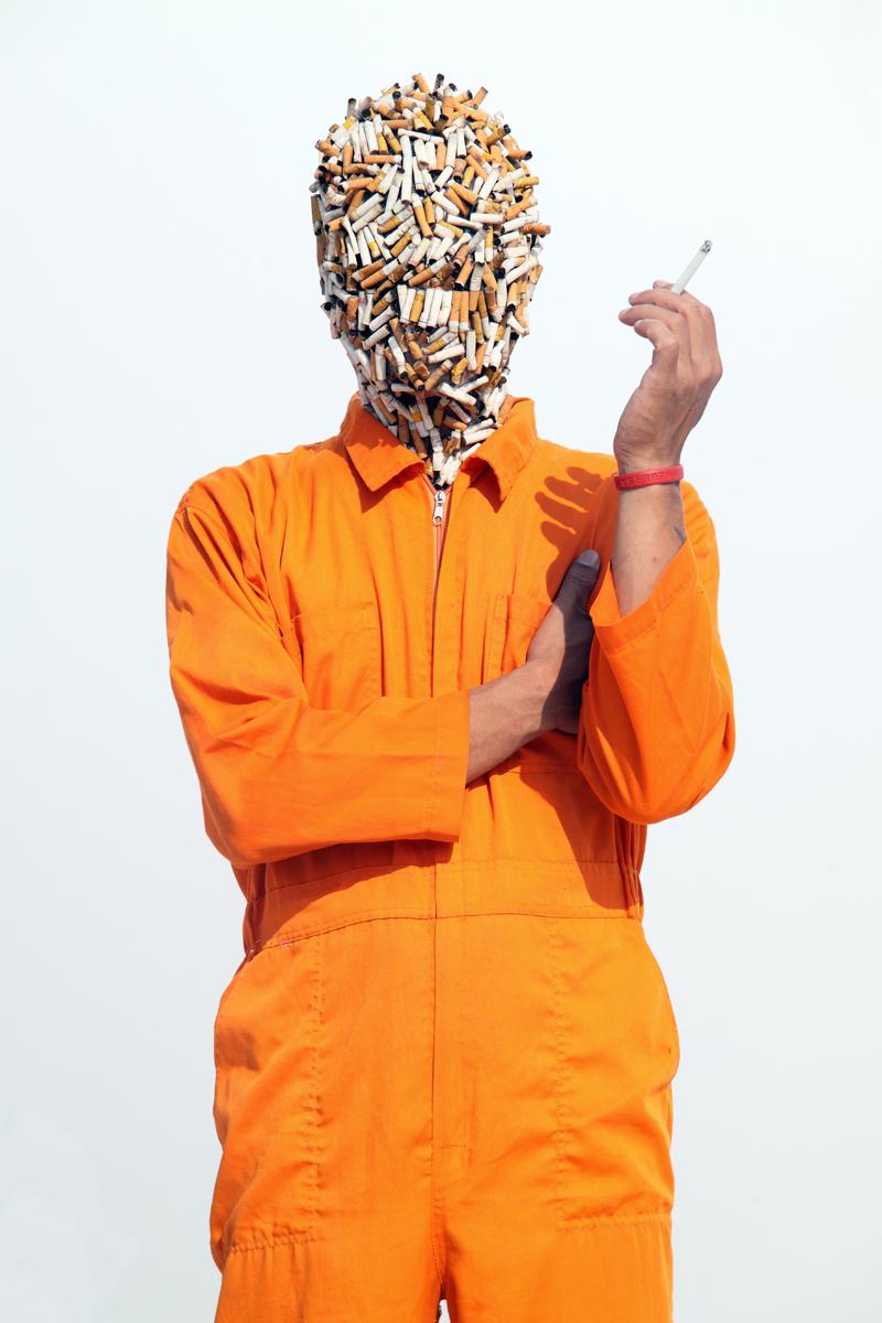 Artist: Jim Allen Abel, Indonesia    Title: Self Portrait - SAMPAH Medium: c-print paper on d-bond & plexiglass   Dimension: 100 cm x 150 cm Edition: 3 + 2 AP    Year:2011    SOLD
