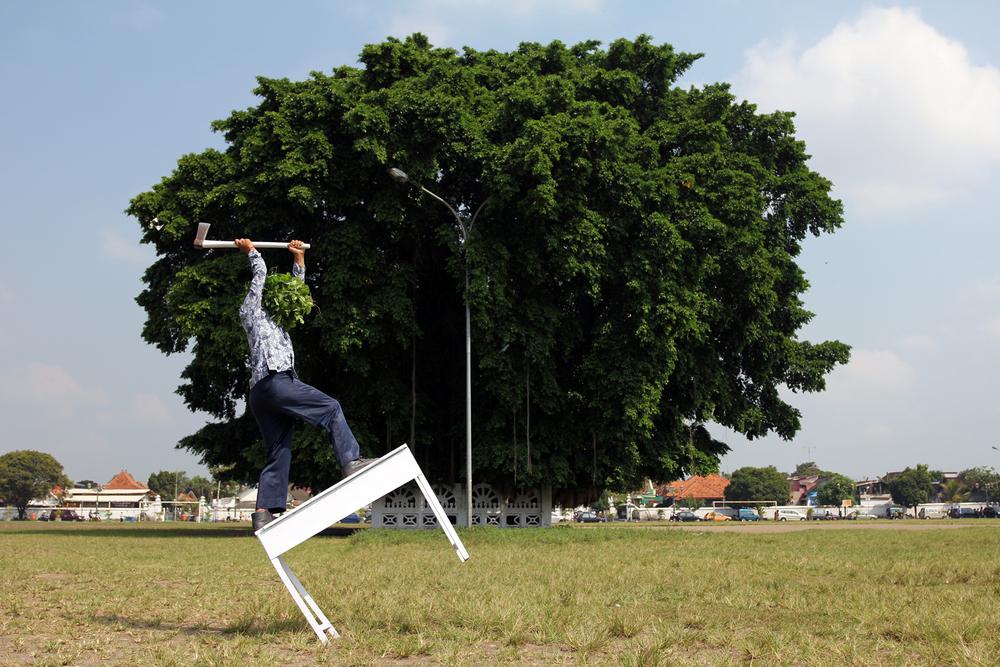 Artist: Jim Allen Abel, Indonesia    Title: Tut Wuri Handayani Medium: c-print paper on d-bond & plexiglass   Dimension: 120 cm x 80 cm Edition: 3 + 2 AP    Year:2011    SOLD