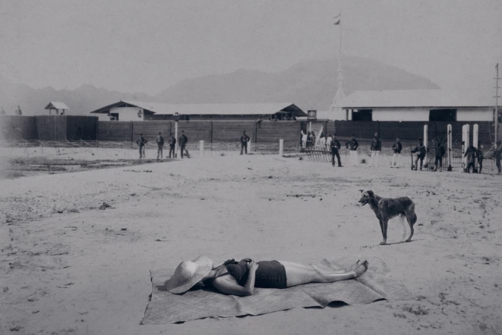Artist: Agan Harahap (Indonesia)    Title: Vakantie In Indonesie series, Lamteh Aceh 1902   Medium: mixed media    Dimension: 60 cm x 40 cm Year:2016