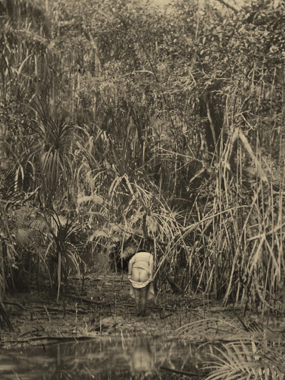 Artist: Agan Harahap (Indonesia)    Title: Vakantie In Indonesie series, Lampung 1910   Medium: mixed media    Dimension: 20 cm x 15 cm Year:2016
