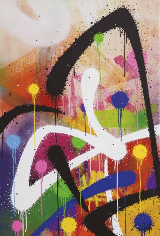 Artist: Mist, France    Title: Stromtrooper Medium: mixed media on canvas   Dimension: Year: 2016