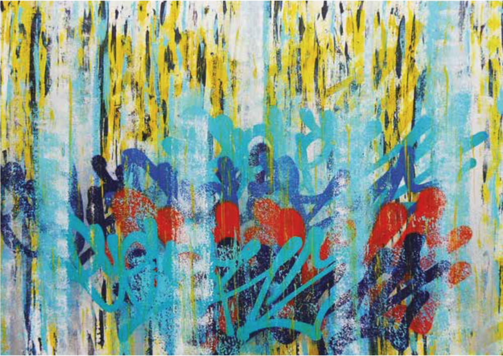 Artist: Colorz, France    Title: Medium: mixed media on canvas   Dimension: Year: 2016