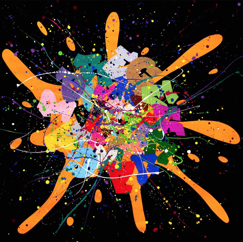 Artist: Kongo, France    Title: 17 Octobre Medium: mixed media on canvas   Dimension: 100 x 100 cm Year: 2016