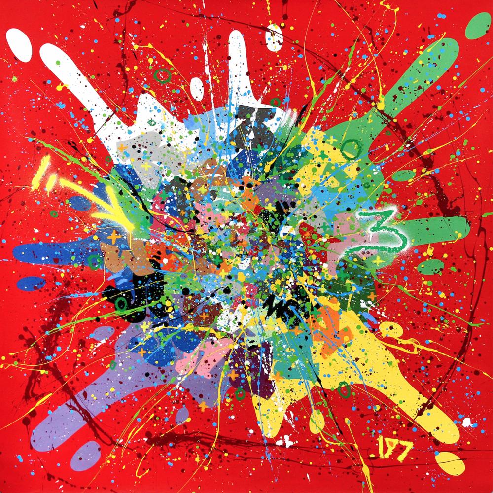 Artist: Kongo, France    Title: 26 Octobre Medium: mixed media on canvas   Dimension: 150 x 150 cm Year: 2016
