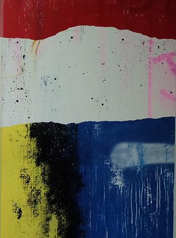 Artist: TIlt, France    Title: Layers Medium: spray paint and ink on canvas   Dimension: 162 x 114 cm Year: 2016