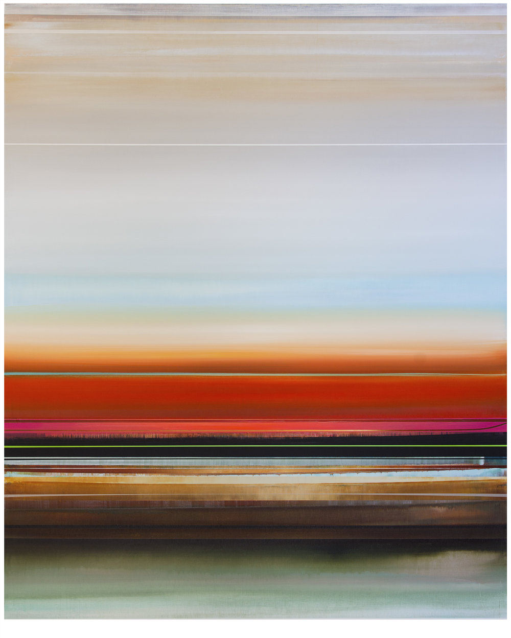 Micah Crandall-Bear, b.1980 (USA)  Title: Strandline  Dimension: 152.40 x 121.92 cm  Year: 2017