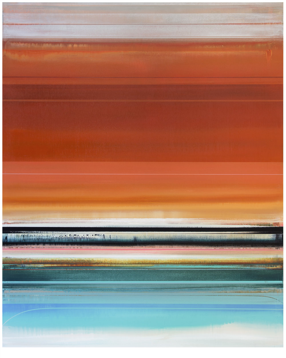 Micah Crandall-Bear, b.1980 (USA)  Title: Ventria  Dimension: 156.56 x 122.08 cm  Year: 2017