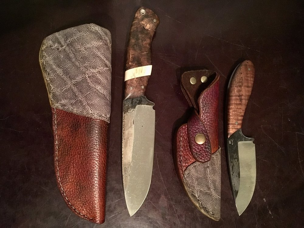 Custom leather work made from a client's own sustainably-sourced Cape Buffalo and Elephant hides.